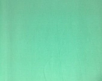 Mint Green Solid - Cotton Flannel Fabric