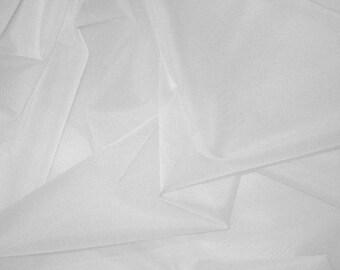 WHITE Silk Organza Fabric - 1 Yard 54 inch width