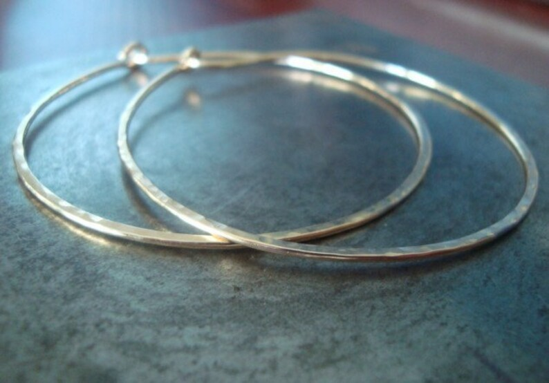 Handmade Artisan Xtra Large Classic Hoops 14kt Gold Filled Earrings