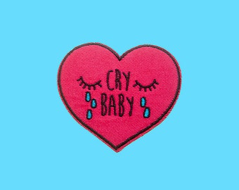 cry baby | Iron on embroidered patch