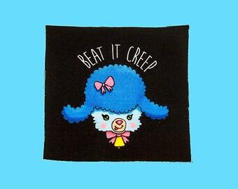 beat it creep! | Lamb Patch | Canvas Patch