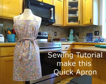 How to make quick reversible aprons
