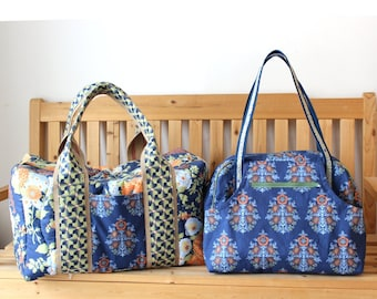Travel Bag Set Duffle and Departure Satchel Custom Made for You