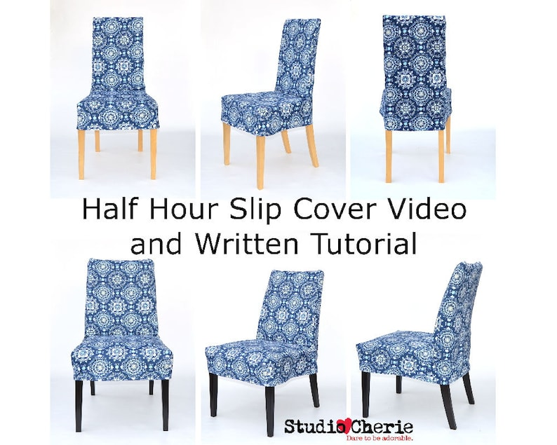 Half Hour Dining Chair Slip Cover Video Lessons and Written image 0
