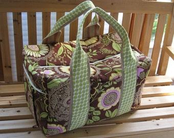 Travel Bag Lacework Duffel in Brown