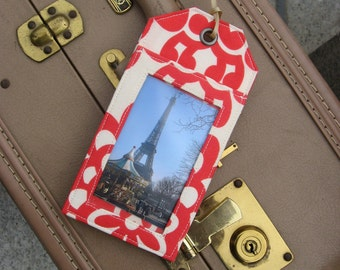 One Sample Luggage Tag With Grommet Wedding Favor