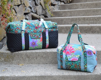 Hipster Duffel Sewing Pattern and Video Instruction Instant Download and Access