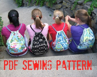 How to Make a Cinch Back Pack PDF Sewing Pattern