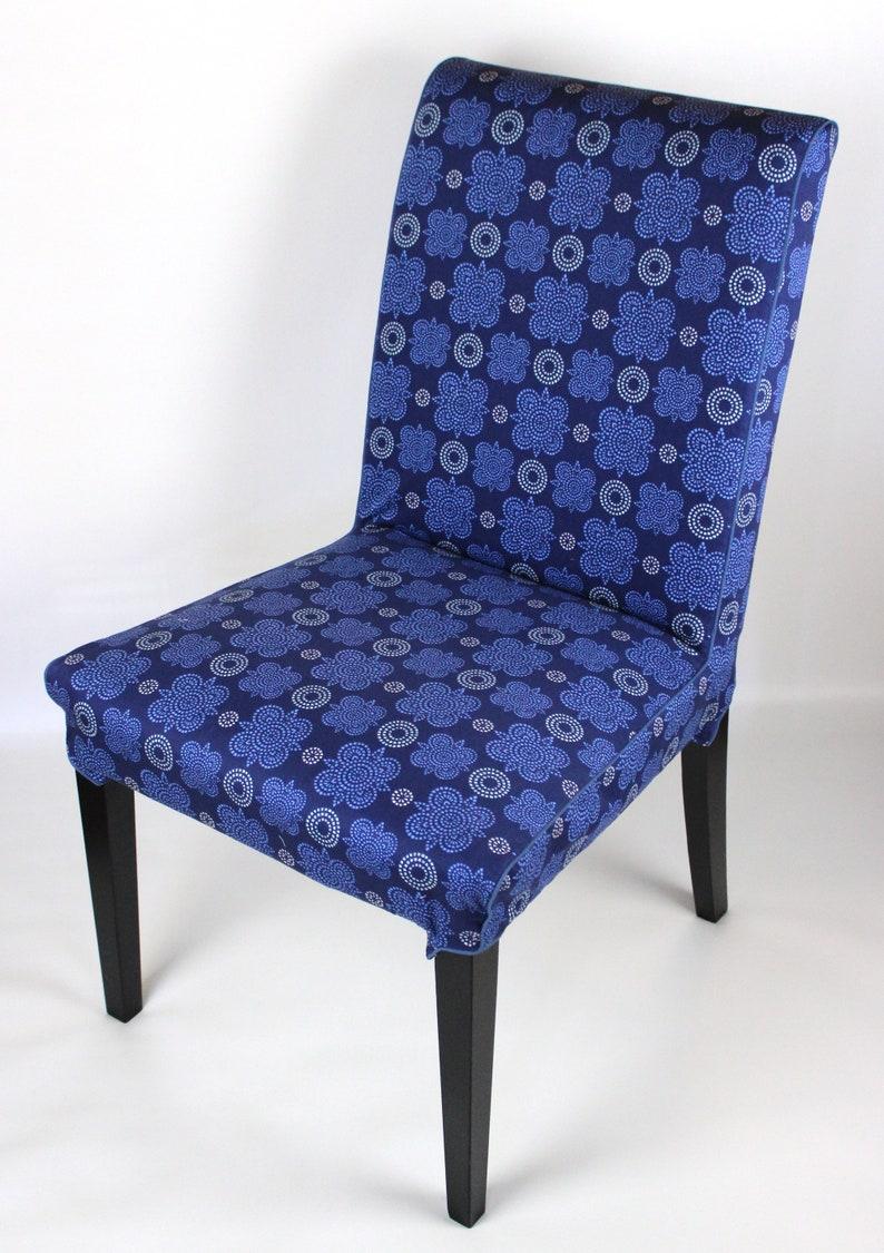 Blue stars slipcover for IKEA Henriksdal dining chair image 0