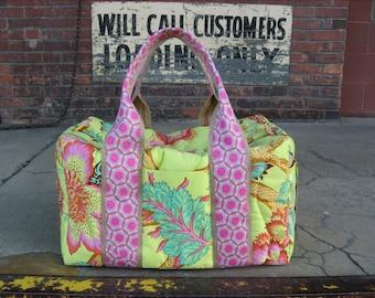 Bright Botanical Weekender Duffel Travel Bag