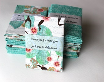 Personalized Bridal Shower Favors, Set of 20 Passport Wallets wrapped with your message