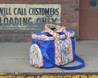 How to Make a Zip Around Duffel Travel Bag Sewing Pattern with Video Instructions Included