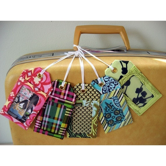 how to make luggage tags instant download sewing pattern etsy