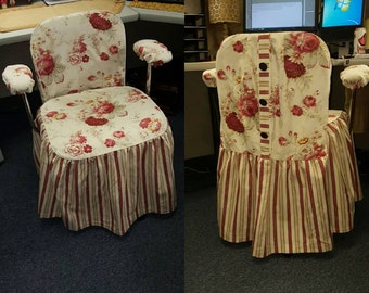 Custom Office Chair Slip Cover Made to Measure