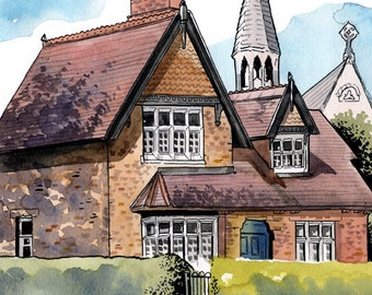 Superintendent's Lodge, St. Stephen's Green, Dublin, Ireland: Archival 11x17 Limited Edition Art Print