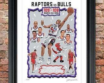 Toronto Raptors versus Chicago Bulls 1996 NBA Basketball Poster/Print