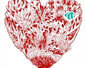 Heart of Coral Print