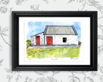 Irish Cottage, Ireland: Archival 11x17 Limited Edition Art Print