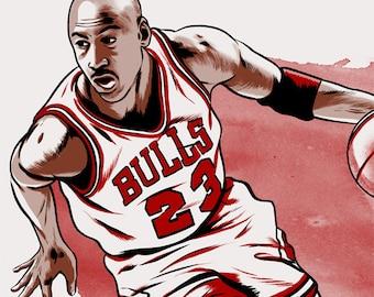 Michael Jordan Chicago Bulls NBA Limited Edition print