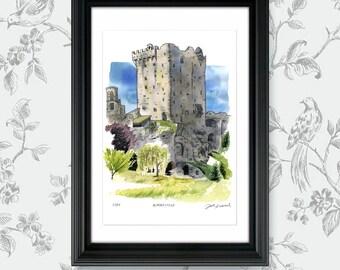 Beautiful Blarney Castle, County Cork, Ireland: Archival 11x17 Limited Edition Art Print