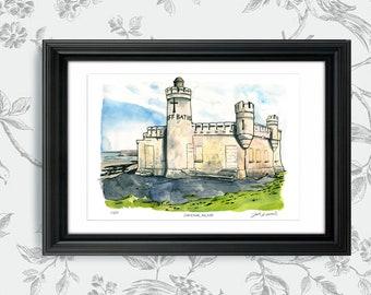 Cliff Baths on the Beach, County Sligo, Ireland: Archival 11x17 Limited Edition Art Print