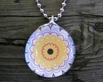 Soldered pendants etsy retro necklaces retro daisy necklaces yellow daisy necklaces soldered pendants soldered jewelry 70s inspired necklaces retro jewelry aloadofball Image collections