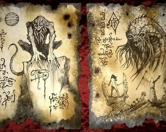 DEMONS OF SERRU cthulhu Necronomicon fragment