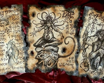 SHUB NIGGURATH LORE Necronomicon fragments cthulhu larp lovecraft cosplay horror monster art