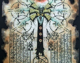 Gate of the Yellow King Cthulhu larp Necronomicon Scrolls dark occult witchcraft magick