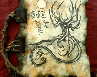NECRONOMICON Demons of Lemuria TOME FRAGMENT  Cthulhu game larp prop lovecraft monsters