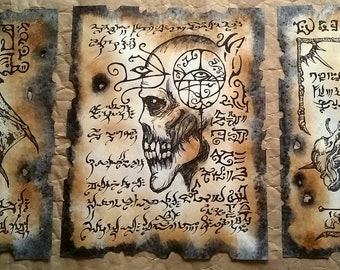 VAMPIRE LORE Necronomicon fragments cthulhu larp lovecraft cosplay horror monster art