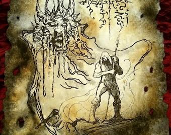 CHAOS DEMON Cthulhu larp Necronomicon Scrolls dark occult witchcraft magick