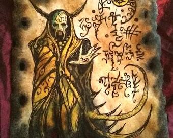 HALI SORCERER cthulhu larp Necronomicon Scrolls dark witchcraft magick