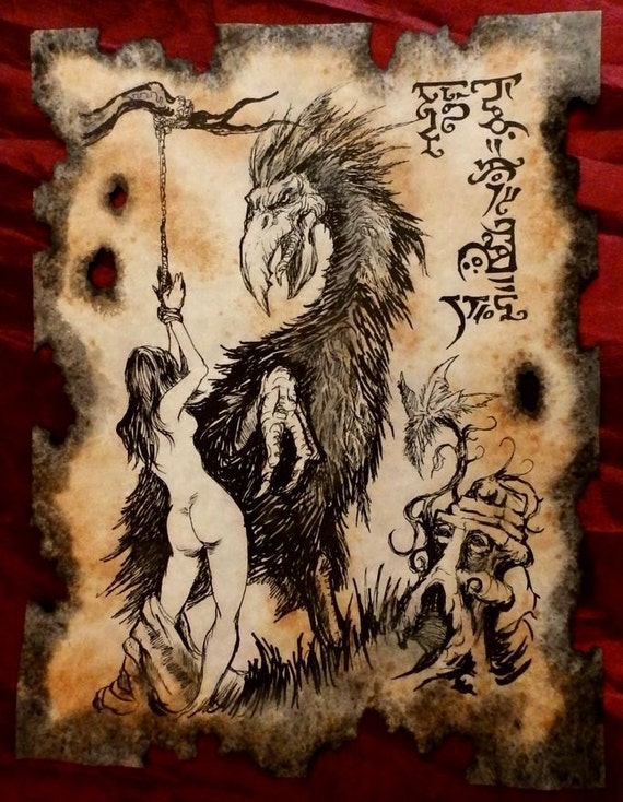 Golka The Devil Bird Cthulhu Larp Necronomicon Fragment