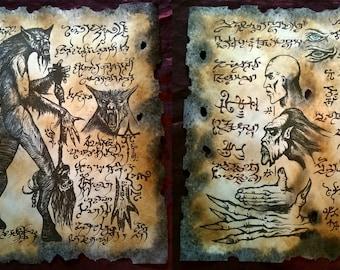 WEREWOLF LORE larp Necronomicon lovecraft monsters occult horror dark art