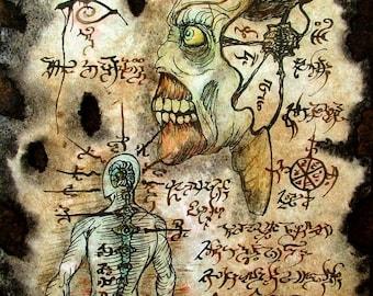 NECROMANCER FORMULAE zombie Cthulhu larp Necronomicon Scrolls dark occult witchcraft magick