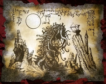 SLAYER of the WORM Necronomicon page Cthulhu larp prop occult sorcery