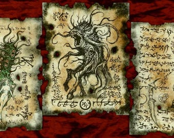SHUB NIGGURATH RITUALS Necronomicon fragments cthulhu larp lovecraft cosplay horror monster art