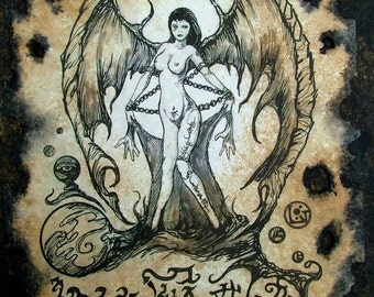 SUCCUBUS cthulhu larp cosplay Necronomicon Fragment demon grimoire witch magick
