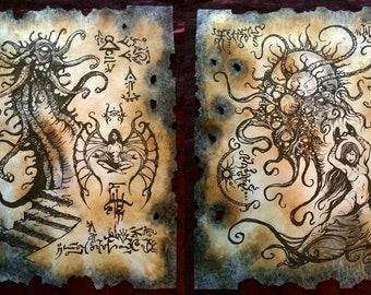 SORCERESS larp Necronomicon lovecraft monsters occult horror dark art