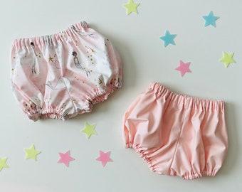 Baby Diaper Covers - Baby Girl Bloomers - Baby Bloomer Shorts - Toddler Diaper Covers - Solid Diaper Covers - Mermaid Diaper Covers