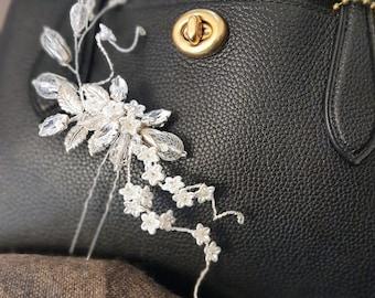 Bridal flower hair pin - ELLIE -  gold - set of two