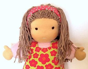 Waldorf inspired Toddler Doll All Natural Materials Pink