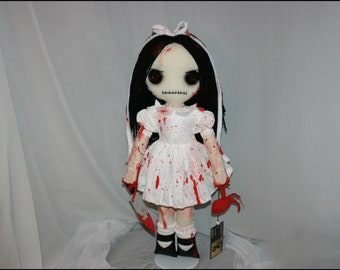 OOAK Hand Stitched Rag Doll Creepy Gothic Horror Art by Jodi Cain Tattered Rags