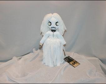 Hand Stitched Mini Ghost Rag Doll Creepy Gothic Halloween Folk Art  By Jodi Cain Tattered Rags 2