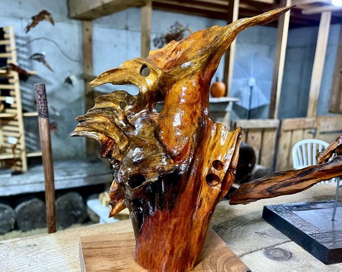 Kiwi - cedar wood sculpture