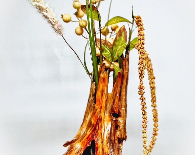 Hallowed Tree - abstract wood sculpture/vase