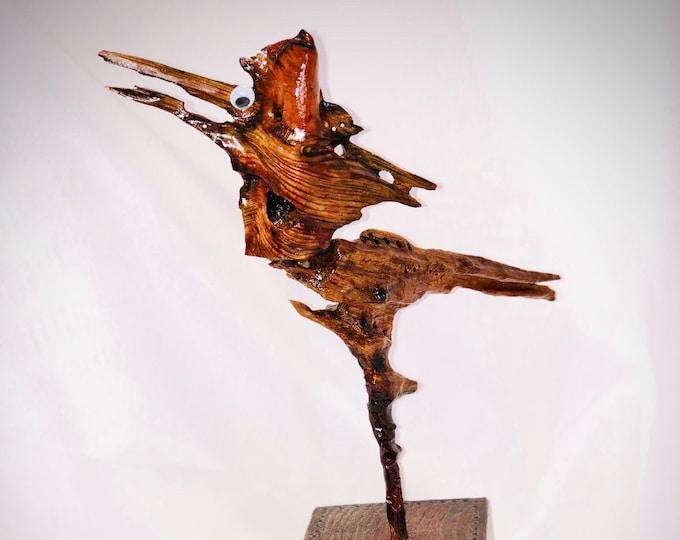 Beep Beep Road Runner - wood sculpture #166