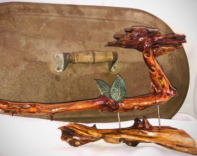 Cinnamon Teal Duck - wood sculpture