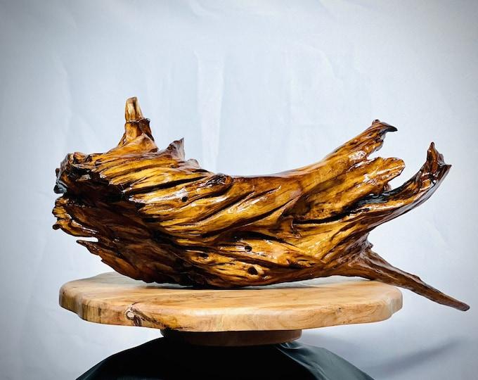 Giant Shark - abstract wood sculpture